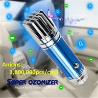 Wholesale Mini Car Ionizer - High Quality JO-6271 Smoking Moved Mini Size Car Air Purifier CE FCC ROHS Certificated Portable Ionizer Fresher Mini Negative Ion