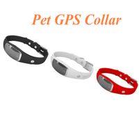 Wholesale Geofence Gps Tracker - S1 Pet GPS Collar Mini Waterproof Silicon Pets Collar GPS Tracker GPS+LBS+WIFI Locator for Dog Cat Tracking Geofence Free APP Ann