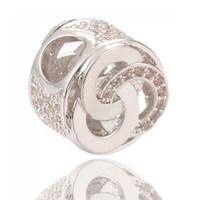 Wholesale Bulk Fine Jewelry - Bulk Sale Pandora Charms Fine Silver Beads Big Hole Beads or Jewelry Making ICPD035 Size 10.8*7.6mm