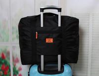Wholesale Cabin Bags Wholesale - Foldable Nylon Suitcase Hand Luggage Cabin Small Wheeled Travel Folding Flight Bag Large Capacity Case Travel Insert Handbag 6pcs Free Shipp