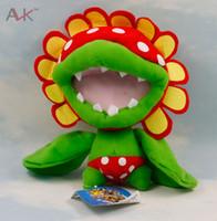 Wholesale Petey Piranha Plush - Wholesale-Hot Sale!!! Super Mario Petey Piranha 19cm Cartoon Doll Plush Toy Present For Children's Baby Birthday Holiday Gift