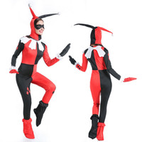 Wholesale Sexy Scary Costumes - New Hot sell Ladies Halloween Scary Sexy Fairytale Story Clown Cutie Costume Jester Party Fancy Dress outfit 89335 M,XL
