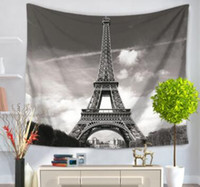 Paris Torre Eiffel Tapeçaria Hippie Wall Pendurado Tapeçarias Beach Throw Toalha França Bed Sheet Beach Mats Home Decor