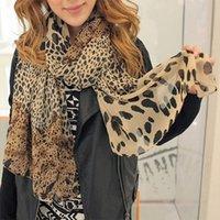 Wholesale Wholesale Clothing Wraps - Wholesale-1 pc New Fashion Women's Long Soft Wrap Lady Shawl Silk Leopard Chiffon Scarf Shawl clothing accessories
