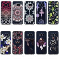 Wholesale Flexible Love - Flower Soft TPU Case For Galaxy S8 Plus (J7 J5 J3 A5 A3)2017 USA Cat Girl Flexible Heart Love Henna Paisley Mandala Dreamcatcher Skin Cover