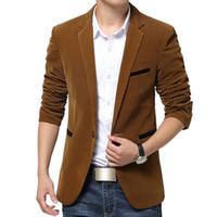 Wholesale British Clothing Brands - 2016 Blazer Men British Style blazer Slim Casual suit male Blazers Men Terno Masculino Coat Plus Size 5Xl Brand clothing