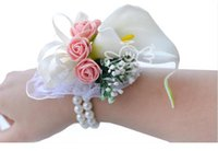 Organza order bride - Romantic Bridal Wrist Corsage Wedding Flower Add Bridesmaid artifical Wedding flowers Bridal Wrist Corsage Max Order