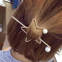 Wholesale Pentagram Hair - Gold Color Bridal Wedding Tiara Baroque Retro Pentagram Hairpin 2017 New Arrival Fashion Party Wedding Hair Jewelry Women Hair Accessories