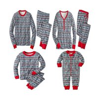 Wholesale Snowflake Clothing Baby - Christmas Family pajama sets Parents and kids baby leisure wear snowflake pattern nightclothes famili matching clothes