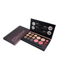 Wholesale Make Offer - 2016 Special Offer Makeup Sets Wholsale 9colours Eyeshadow ,4blusher,3lipgloss Design In Papper Dark Red Color for Women's Make Up Set