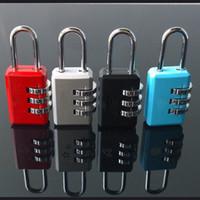 Wholesale Luggage Bands - Wholesale- Nice 3 Digit Dial Combination Code Number Lock Padlock For Luggage Zipper Bag Backpack Handbag Suitcase Drawer