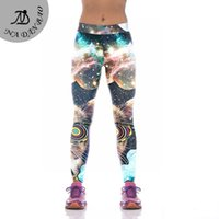 Wholesale Galaxy Cat Leggings - Wholesale- Fashion Alien Cat Women Trouser Leggings Galaxy Printed Pants High Elastic Women's Compression Mujer Pants KYK1044