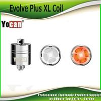 Wholesale Wholesale Caps Original - Original Yocan Evolve Plus XL Wax QUAD Coil Quatz Rod Replacemen Coils Head With Coil Cap For Evolve Plus XL Dab Pen Kit 100% Authentic