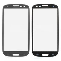 Wholesale S3 Glass Grey - For Galaxy S3 Galaxy iii i9305 I9300 I535 I747 L710 T999 glass lens front glass Grey -not LCD or digitizer 10PCS LOT