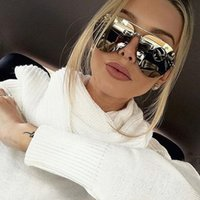 Wholesale Gold Mirrored Aviator Sunglasses - luxury oversized Aviator Sunglasses Women Australia brand designer shades mirror gold pink sun glasses men 2017 fashion female lunettes