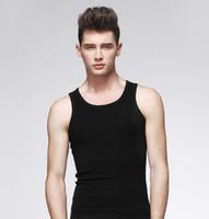 jungen sexy hemden großhandel-Großhandels- Neue 2017 populäre Mens-Jungen-Trägershirt-Muskel-Sleeveless T-Shirt Sportwear Weste-Unterhemd-Schwarz-Grau-Weiß XL-3XL geben Verschiffen frei