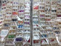 Wholesale random charms for sale - Group buy Women Lady Earring Elegant Crystal Rhinestone Ear Stud Earrings Random Mixed Fashion Pairs