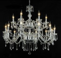 nave libera Imballaggio in legno Noble Luxurious Export K9 Clear Crystal Chandelier 4/6/8/10/12/15/18 Arms Opzione Lustres Cristal droplight