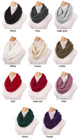 New Fashion Women's Girl's Ring Scarf Scarves Wrap Shawls Warm Knitted Neck Circle Cowl Snood para o inverno do outono (Ax30) Frete grátis