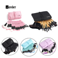 Wholesale Makeup Sets China - VANDER 32 pcs Makeup Brush Set Synthetic Professional Makeup Brushes Foundation Powder Blush Eyeliner Brushes pincel maquiagem US China