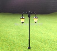 Wholesale Ho Scale Lamppost - Wholesale- LYM18 Model Railway Led Lamppost Lamps Street Lights HO Scale 6cm 12V New