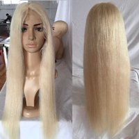 Wholesale Price For Lace Front Wigs - 100% Peruvian Human Hair Full Lace Wig honey #613 blonde Straight Hair Blond lace front Wigs for black women Best Price