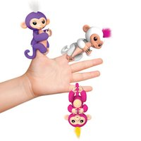 Wholesale Baby Toys Sound - In Stock ! 130mm Colorful Finger Monkey Fingerlings Interactive Baby Monkey Sound Finger Motion Hanger Toy Gift Party Favor vs spinner