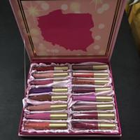 Wholesale Poland Box - Poland Edition Matte Melted Liquid Lipstick Lip Gloss 16pcs Lipstick Set With box Christmas Gifts