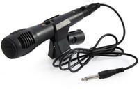 gravação de microfone dinâmica venda por atacado-Uni-direcional Microfone Com Fio Dinâmico para Gravação de Voz Máquina de Cantar Sistemas de Karaokê e Computadores KTV + NB