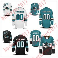4cf5314c4 Custom San Jose Sharks Mens Womens Youth Blue White Black Teal Green Black Third  Stitched Any Name Number Cheap Ice Hockey Jerseys S-4XL ...