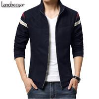 Wholesale Trend Fashion Jacket Korean - Wholesale- 2015 New Fashion Brand Jacket Men Trend Patchwork Korean Slim Fit Mens Designer Clothes Cotoon Men Casual Jacket 4XL 5XL