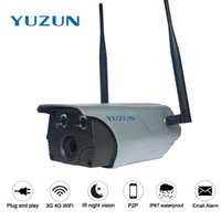 Wholesale 3g Home Security Camera Wireless - 3g 4g IP67 rainproof Wireless 960P 1080P cctv security outdoor camera AP WiFi hotspot night vision p2p ip bullet monitor camera