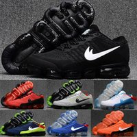 Wholesale Gold Spiked Sneakers - Cheap Vapormax Plyknit Men's Running Shoes Triple Black Gold Green White Red Vapor Maxes 2018 Trainer Kpu Sport Sneakers Size 7-13