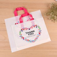 Wholesale Hand Bag Love - Flower of love Plastic bag custom clothing store hand bag women's and children's clothes cosmetics packaging bag can print LOGO