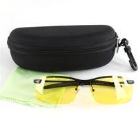Wholesale Hard Goggle Case - Wholesale- 2017 UV400 HD Night Vision Polarized Glasses Vogue Driving Sunglasses Eyewear Free Hard Case And Glasses Cloth