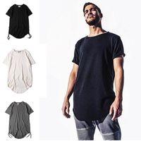 Wholesale Tyga Shirts - Mens fashion kanye west hip hop t shirt tyga swag clothing men justin bieber tee shirts streetwear kpop rock yeezus tshirt homme