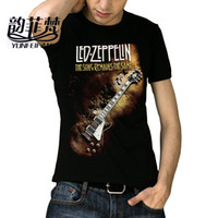 x201710 Molti motivi Heavy Metal Led Zeppelin AC DC Metallica I Beatles Nirvana Guns N 'Roses Bacio Tee Rock Band T-shirt per gli uomini
