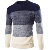 Wholesale Imported Plus Size Clothing - Wholesale- Hot sale style New 2015 Casual Autumn winter warm crochet clothes imported clothing pullover men sweater plus size M-XXL