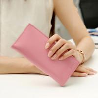 Wholesale Korean Ladies Hand Bags - Manufacturers wholesale 2017 new ladies long wallet Korean original ultra-thin card bag wallet small hand bag