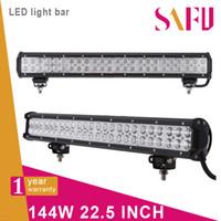 "Wholesale 24v Off Road Lights - 22.5"" 144W cree led light bar Truck Work light 48x3W off-road lamp Car Camper combo 12V 24V 4WD 4x4 120W 180w"