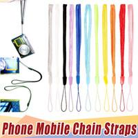 freie handzelle großhandel-Freies Verschiffen Handgelenk Hand Handy Mobile Kette Riemen Schlüsselbund Charm Cords DIY Hang Seil Lariat Lanyard