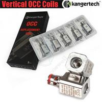 clearomizador de bobina vertical al por mayor-Bobina OCC vertical de calidad superior Kanger Actualizada 0.2 0.5 1.2 1.5ohm Kangertech Subtank Mini Nano Plus vapor e cig Clearomizer Reemplazo de bobinas
