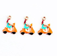 Wholesale enameled jewelry for sale - Group buy 40PCS Enameled Riding girl charm pendant x18mm jewelry findings