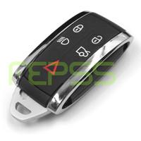 Wholesale Jaguar Key Case - Smart Remote Key Case Shell + Uncut Key Blank for JAGUAR X S-Type XF XK XKR 5B