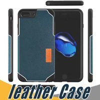 Wholesale Luxury Iphone Holster Case - For iPhone 7 Luxury Leather Slim Retro TPU Case Holster Pouch Soft Cases Cover For iPhone 6 6S 7 Plus
