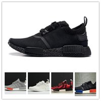 Wholesale Nice Lights - 2018 NMD Runner R1 Primeknit OG Black Triple White Nice Kicks Circa Knit Men Women Running Shoes Sneakers Originals Classic Casual Shoes