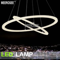Wholesale New Modern LED Pendant Rings Light Arcylic Suspension Intdoor Watts Factory Price Circle Light