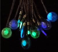 Wholesale Singapore Lights - light bulb Luminous sand Locket Floating Hollow Locket Pendant Necklaces Necklace EXL136