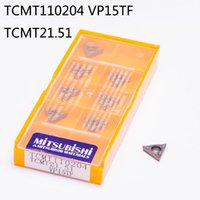 Wholesale Tungsten Carbide Inserts Wholesale - Mitsubishi 10PCS   Lot TCMT110204 VP15TF TCMT21.51 Sclcr Tungsten Insert Lathe Cutter Carbide Tip High Quality CNC Machine Factory Indexable