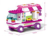 Wholesale Block Piano - oy pianos for children SLUBAN B0155 Pink Dream Snack Car Building Blocks 102pcs set Particles Bricks Girls Toys Compatible with Major Bra...